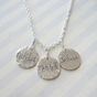 Multi-Silver Charms Family Necklace - click to Enlarge