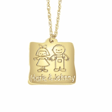 My Babies Name Charm Necklace