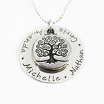 My Family Tree Name Necklace
