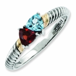 My Loving Family Antiqued Birthstone Ring