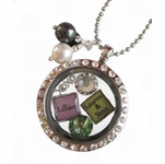 My Story� Locket with Crystals