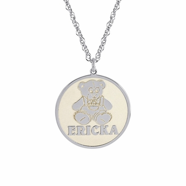 Name and Figure Charm Necklace