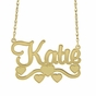 Name Necklace with Heart & Swirls - click to Enlarge