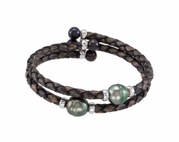 Natural Black Pearl Wrap Cuff