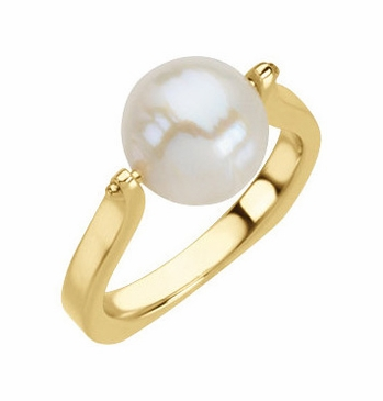 Natural Pearl Gold Ring