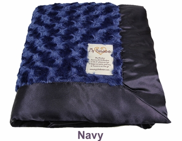 Navy Snail Blanket by My Blankee