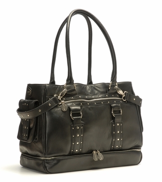 Nest Elliott Leather Diaper Bag in Black (As Seen on Heidi Klum!)