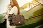Nest Elliott Leather Diaper Bag in Black (As Seen on Heidi Klum!)  -  SALE - click to Enlarge