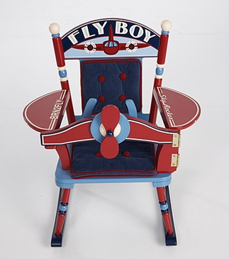 *NEW* Fly Boy Airplane Rocking Chair