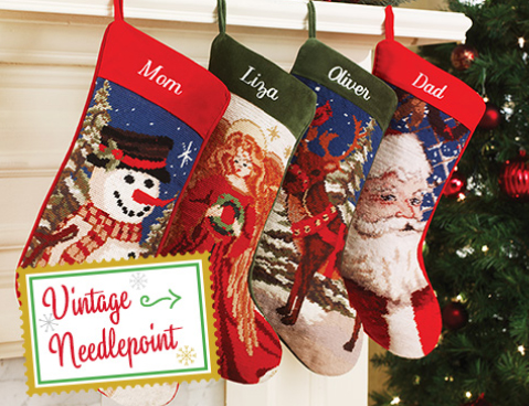 Magnificent Personalized Christmas Stockings Needlepoint Easy Diy Christmas Decorations Tissureus