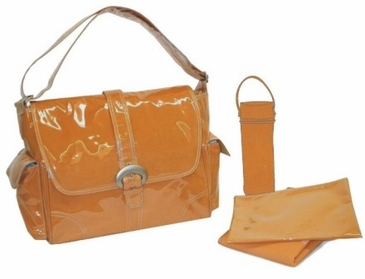 Orange Corduroy - Laminated Buckle Diaper Bag by Kalencom