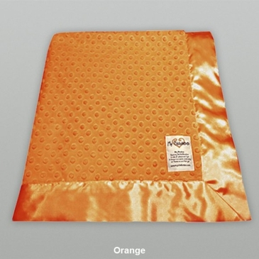 Orange Dot Velour Blanket by My Blankee