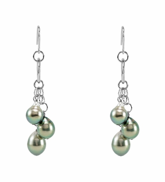 Ornate Tahiti pearl earrings