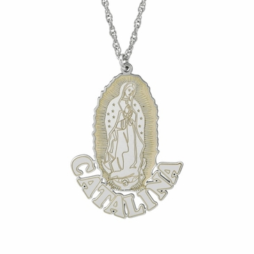 Our Lady of Guadalupe Personalized Necklace