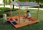 Outdoor Sandbox w/ Canopy - click to Enlarge