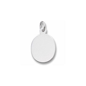 Oval Disc Charm by Forever Charms - Personalized
