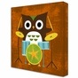 Owl Band Drummer Stretched Art by Dish and Spoon - click to Enlarge