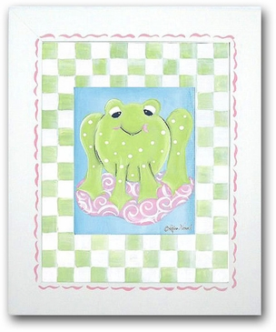 Paddy Frog - Girl Frog Framed Canvas Wall Art