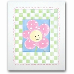 Paddy Frog - Happy Flower Framed Canvas Wall Art