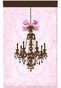 Parisian Chandelier Coco Framboise Wall Hanging Personalized by Dish and Spoon - click to Enlarge