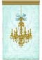 Parisian Chandelier Gilded Sarcelle Wall Hanging Personalized by Dish and Spoon - click to Enlarge