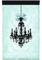 Parisian Chandelier Licorice Sarcelle Wall Hanging Personalized by Dish and Spoon - click to Enlarge