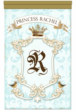 Parisian Princess Gilded Sarcelle Wall Hanging Personalized by Dish and Spoon