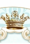 Parisian Princess Gilded Sarcelle Wall Hanging Personalized by Dish and Spoon - click to Enlarge