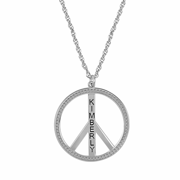 """Peace"" Name Necklace"