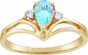 Pear Shaped Birthstone and Diamond Majesty Ring - click to Enlarge