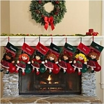 Personalized 3-D Rag Doll Stockings