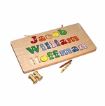 Personalized 3 Line Wooden Board Puzzle