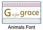 Personalized Animals Girl Picture Frame - click to Enlarge