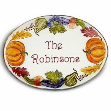 Personalized Autumn Serving Platter
