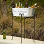 Personalized Beverage Tub and Stand - click to Enlarge