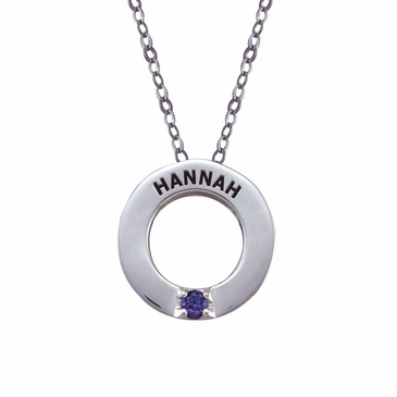 Personalized Birthstone Circlet Necklace