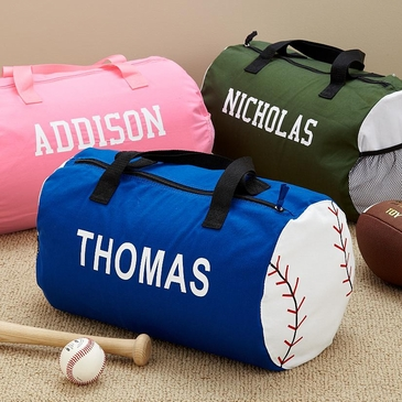 Personalized Canvas Sports Kids Duffel Bag