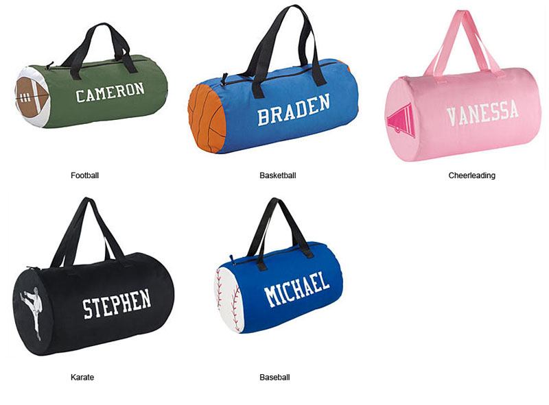 Personalized Kids\\\' Sports Duffel Bags Sports Kids Duffel Bag