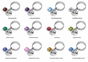 Personalized Charm and Birthstone Ring - click to Enlarge