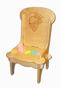 Personalized Child's First Puzzle Chair Princess