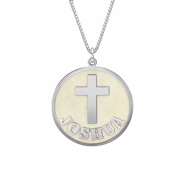 Personalized Cross Pendant Necklace