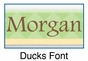 Personalized Ducks Picture Frame - click to Enlarge
