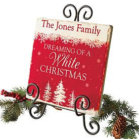 Personalized Family Christmas Tile
