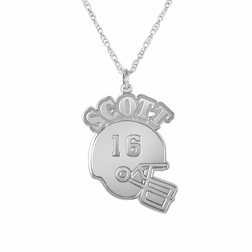 Personalized Football Pendant Necklace