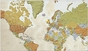 Personalized Framed World Map - click to Enlarge