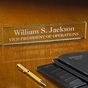 Personalized Glass Nameplates - click to Enlarge