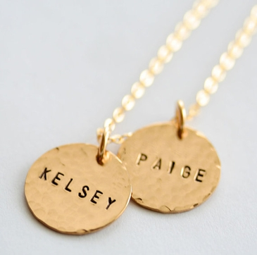 Personalized Double Gold-filled Pendants Necklace
