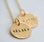Personalized Double Gold-filled Pendants Necklace - click to Enlarge