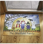 Personalized Halloween Family Doormat