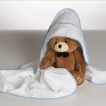 Personalized Hooded Towel with Teddy Bear Gift Set - Boy
